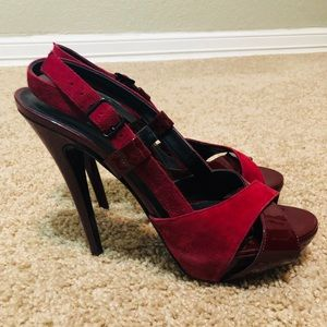 Rock & Republic Patent and Suede Red Shoes (NWT)